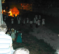 Fire arrows attack the camp (terminal orbit) Tags: show old city italy festival night fire evening liguria attack august battle tent knights final finale moat reenactment 2007 conclusion templars ligure knightstemplars georgescross finale liguremedieval