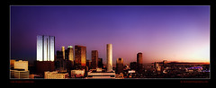 Los Angles Downtown Panoramic City Skyline Photography