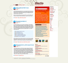 WordPress theme: Dilectio (by Buou)