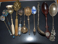 Silver spoon collection (ineedathis, Everyday I get up, it's a great day!) Tags: english southamerica dutch french ivory german bone antiques russian soe collectibles sterlingsilver silverspoons supershot antiquesilver superbmasterpiece diamondclassphotographer excellentphotographer russianenamel goldwashed dutchporcelain collectiblespoons rosewoodspoon russianenamelsilverspoons georgevcoronationsterlingsilverspoon