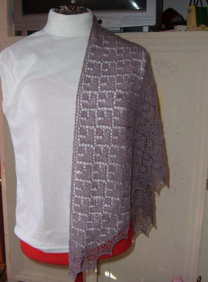 Beaded Adamas Shawl