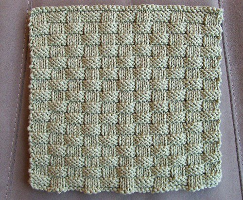 Free Knitting Pattern For Basket Weave Scarf : BasketWeave Washcloth MeTyme Patterns