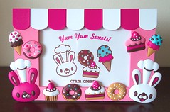 Cram Cream Bunny Photo Frame (toriloveskitty) Tags: cute bunny fruits japan cupcakes photo yum donut frame kawaii cramcream