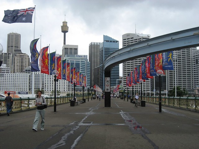 View of Sydney's skyline from Darling Harbour