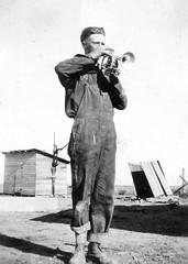 1922-Jesse playing trumpet (Sharlene W) Tags: fish jesse 1922