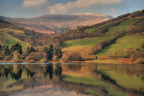The Brecon Beacons, Waun Rhydd from Tal-Y-Bont Reservoir by -terry-.