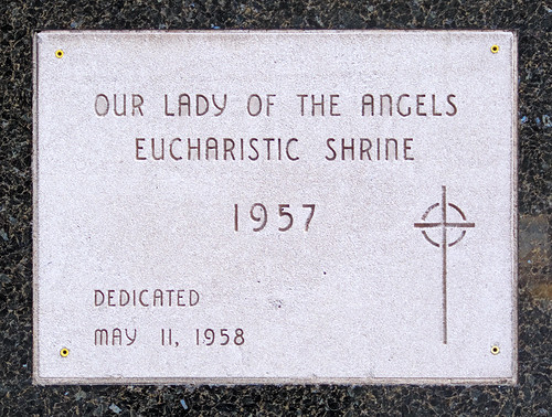 Former Eucharistic Shrine, in Saint Louis, Missouri, USA - cornerstone