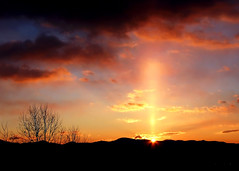 Sun Pillar Sunrise (Kirpernicus) Tags: trees winter light sky sun sunlight mountains nature beautiful sunshine silhouette clouds sunrise vermont searchthebest natural february sunpillar greenmountains supershot atmosphericoptic golddragon weatherphenomenon specsky anawesomeshot aplusphoto greenmountainsunrise