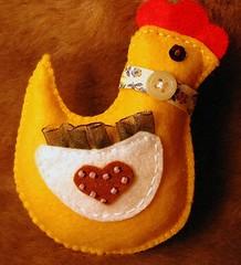 Pintaínhos (chicks) (Oh!.. So cute!) Tags: yellow easter cottage amarelo páscoa chicks feltro pintos artesanado pintaínhos