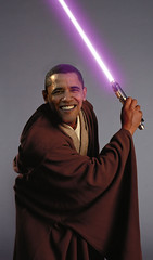 Barack Obama Windu (Sebastian Niedlich (Grabthar)) Tags: photoshop manipulated starwars photoshopped political politics manipulation jedi lightsaber manip obama photoshopping macewindu barackobama grabthar sebastianniedlich