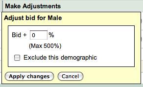 Google AdWords Demographic Bidding