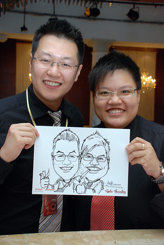 caricature live sketching Singtel Radiance Communications Avaya 11