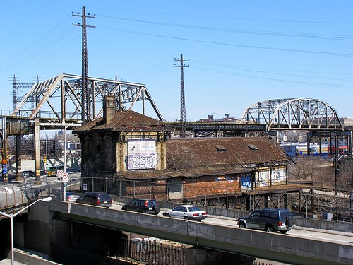 Subway Trestle Bridges over Amtrak Railroad Tracks and the Bronx River, New York City