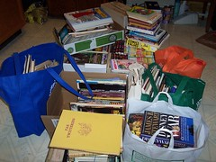100_4994 Book sale hauls