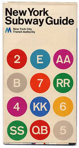 MasimoVignelli New York Subway Guide