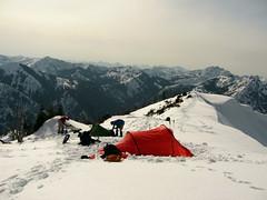Busy campsite