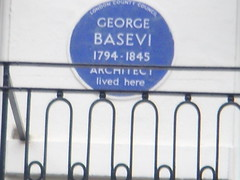 Photo of George Basevi blue plaque