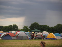 Storm and tents at PAPA fest