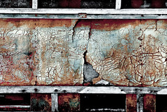 tons of honey (mimo_) Tags: wood old colors wall rust paint sony coat maps rusty scratches beehive a100 crusted