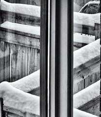 Winterscape 2017 # 48 ... ; (c)rebfoto (rebfoto) Tags: winterscape snow blackandwhite rebfoto bw winter winterscene moresnow windowview