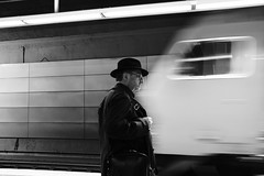 Close Encounters (Ivan Rigamonti) Tags: monochrome streetphotography zurich train