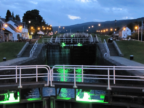 Caledonian Canal lock staircase