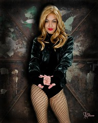 Black Canary Adam Hughes tribute (VictoriaCosplay) Tags: victoria superman wonderwoman batman dccomics greenlantern smallville blackcanary justiceleague greenarrow cosplaygirl blackestnight wwwcosplaygirlwebscom