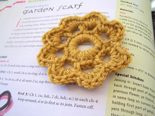 Mustard Crochet Flower