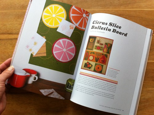 Nicole Vasbinder's Citrus Slice Bulletin Board