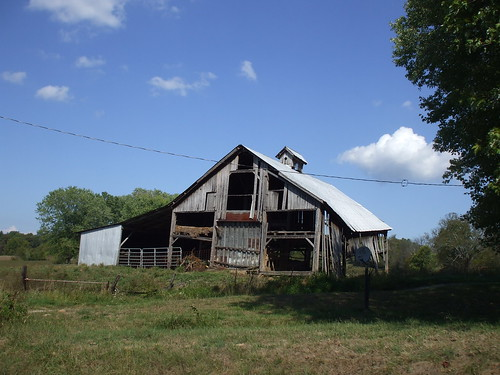 Run-down barn