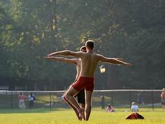 Central Park - New York City (Ubierno) Tags: park new york sunset man men yoga manhattan central nueva ubierno