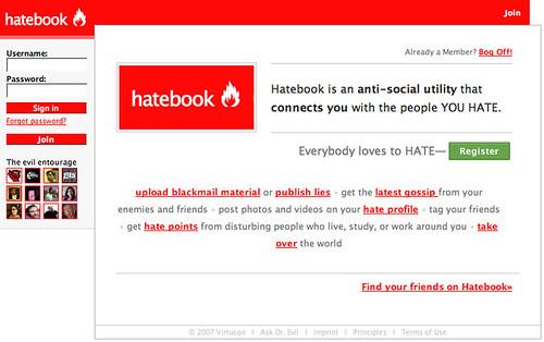 Hatebook - An Evil Facebook Parody 2