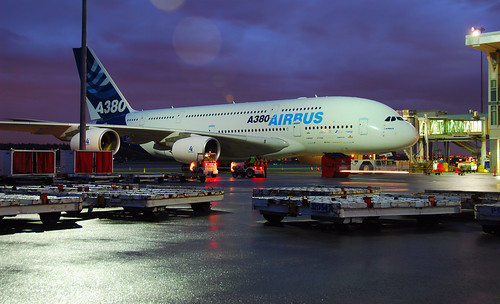 A380 Ready for sunrise