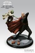 <b>Sideshow</b> &#13;&#10;Collectibles Yoda versus Count Dooku Diorama