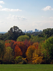 A view of our capital city Hartford, CT. (sherrydigitalphotos) Tags: autumn trees fall landscape connecticut ct foliage blueribbonwinner wickhampark manchesterct hartfordskyline aviewofhartfordct img18632 capitalofconnecticut cityofhartfordconnecticut