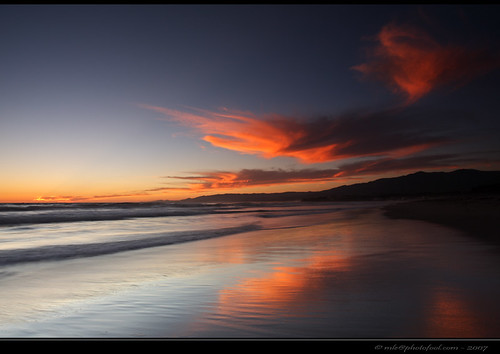 beach sunset cloud santabarbara california photofool