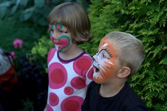 Kids with painted faces (Lauri Vin) Tags: face painting children facepaint dopplr:explore=rg81