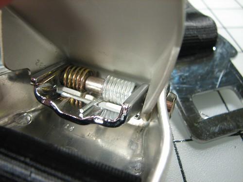 Inside my seat belt buckle