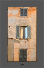 Open window (CharlieHill) Tags: old windows italy orange house building composition shutters goldenglobe