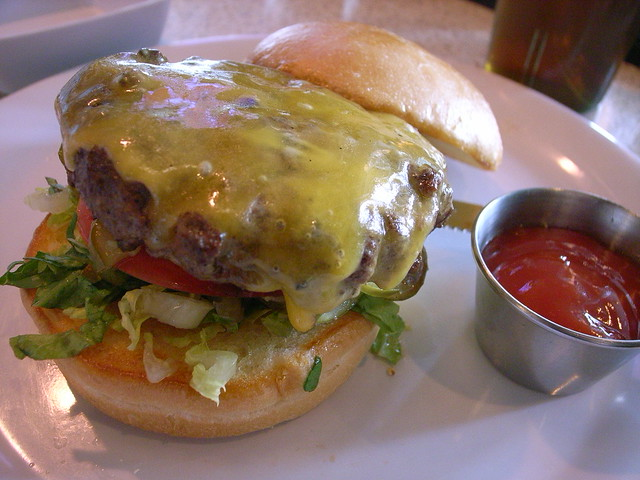 Old School Burger at The Counter