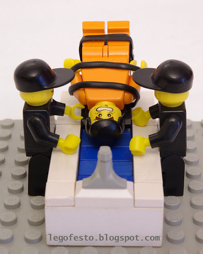 waterboarding Lego minifig style