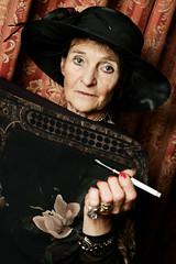 TITANIC'S  Passenger (Reportergimmi) Tags: old woman hat smoke smoking organo jewels titanic i78 cappello fumo fumare sigaretta vecchia cigerette gattini passera gioiello interestingness141 interestingness78 i141 smessa