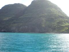Mountains of the Napali Coast (JessMania12) Tags: vacation beach hawaii dolphins kauai napalicoast hanaleibay