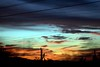 Distorted Sunset (Lostmycat) Tags: sunset arizona cactus sky lines distorted saguaro whiledriving