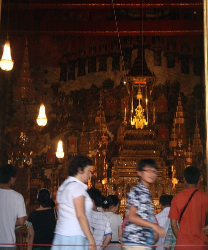 The Emerald Buddha, blurry and from far away
