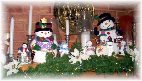 Snowman Mantle right