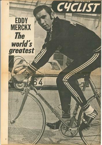 The Australian Cyclist - Feb 1973 - Merckx Poster