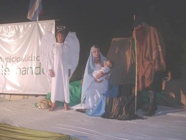 Cuadro alegorico al nacimiento del Niño Jesús