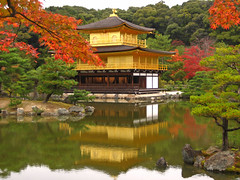 The Golden Pavilion (Andrea Cassani) Tags: lake japan temple japanese gold kyoto buddhism  imperial   kinkakuji soe giappone  honsu