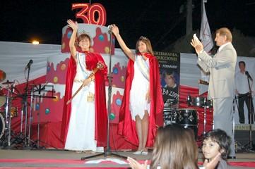 Reina 52º Fiesta Nacional del Maní -Evelyn Boehler- 2º Princesa -Agostina Herrera- locutor -Miguel Borsatto-
